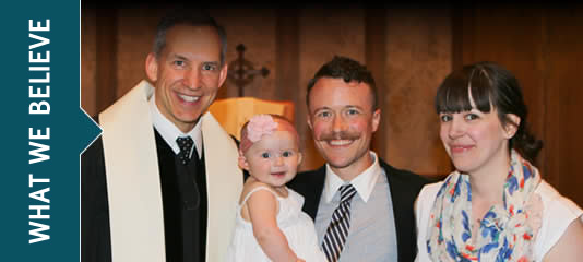 What We Believe - post-baptismal picture
